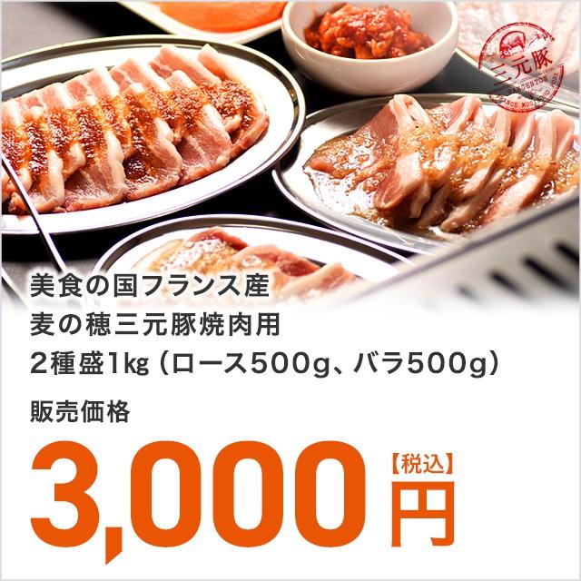 【送料無料】美食の国フランス産三元豚焼肉用2種...