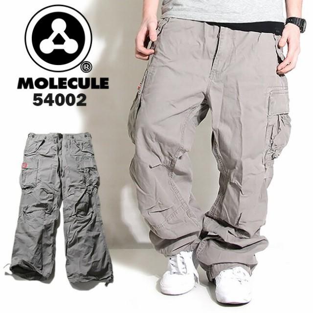 MOLECULE ミリタリーカーゴパンツ グレイ 54002【...