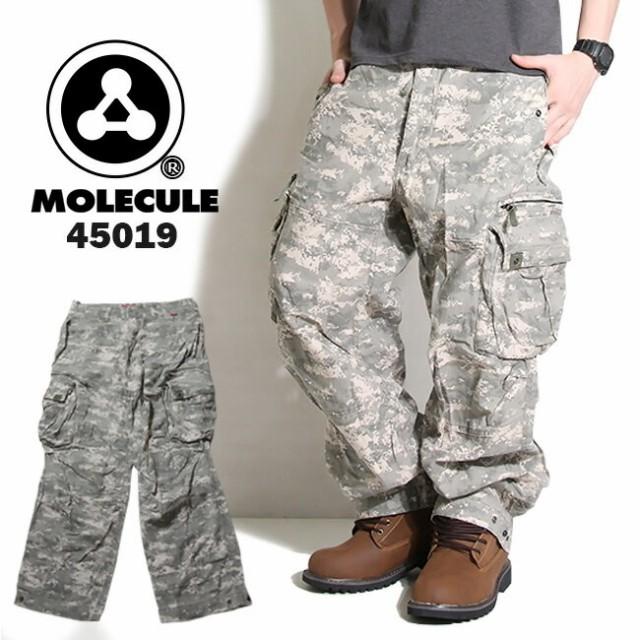 MOLECULE 6ポケット ミリタリーカーゴパンツ デジ...