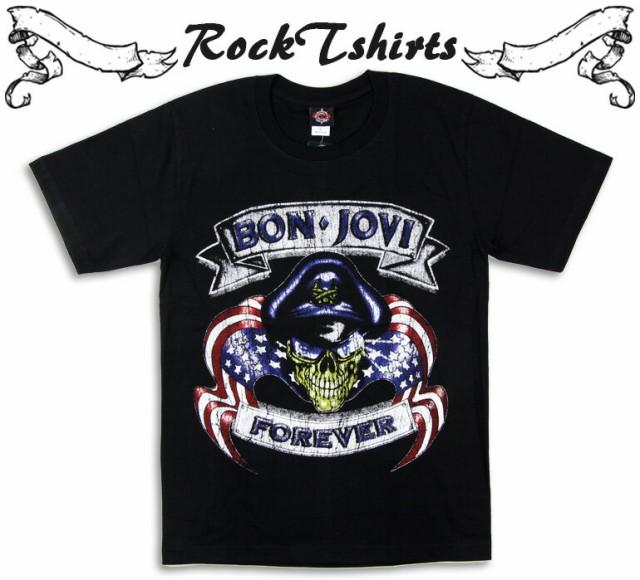 ロックTシャツ Bon Jovi ボン ジョヴィ ドクロポ...