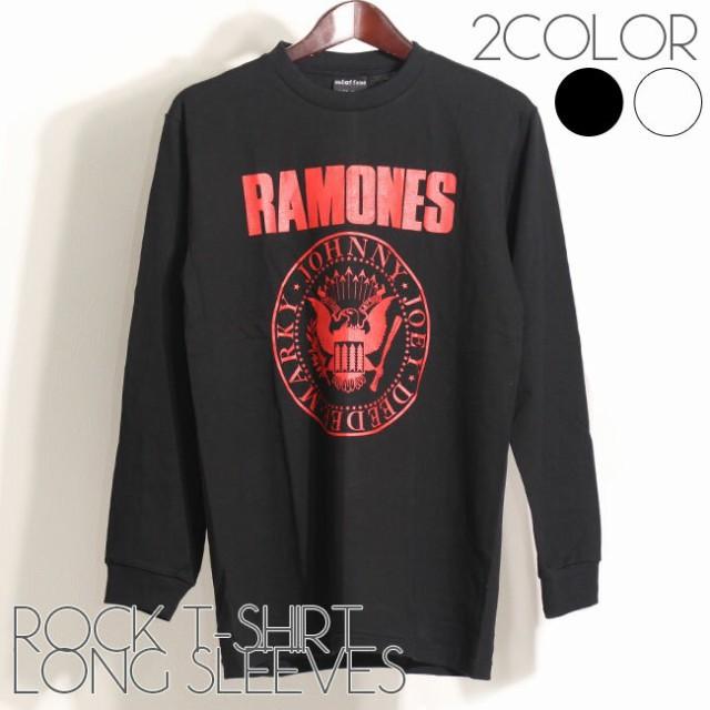 ロックTシャツ バンドTシャツ 長袖 メンズ RAMONE...