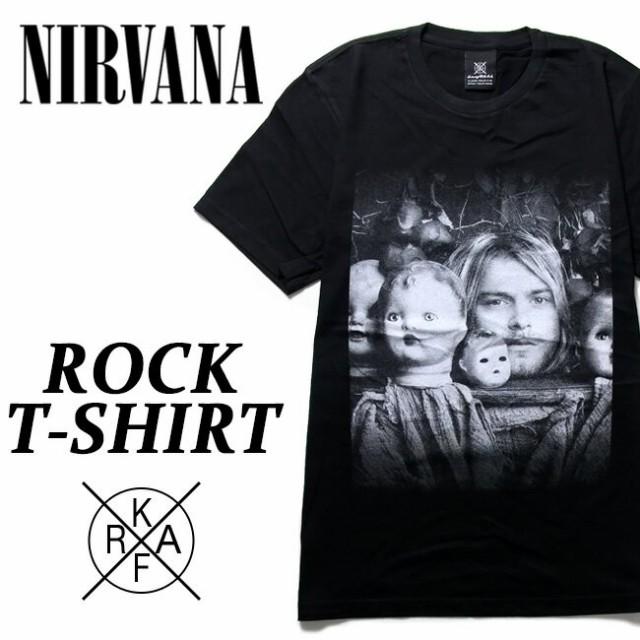 ロックTシャツ 半袖 Nirvana Tシャツ ニルヴァー...
