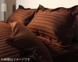 ホテルスタイル ストライプサテンカバーリング 枕...