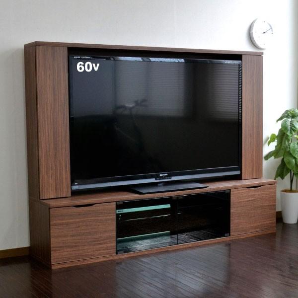 テレビ台 ハイタイプ 壁面家具 ブラウン リビング...