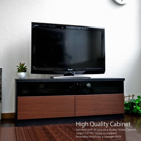 テレビ台 ローボード 105cm幅 テレビボード ブラ...