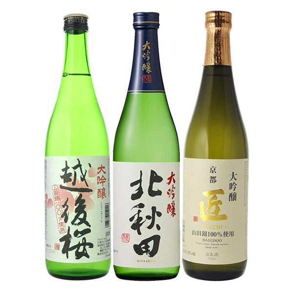 日本酒 飲み比べ 大吟醸3本飲み比べセット (北...