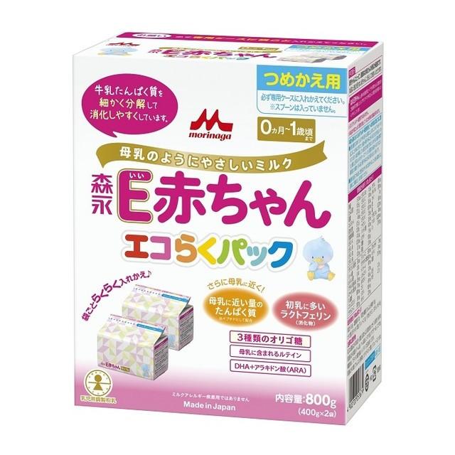 ◆森永乳業 エコらくパック 詰替用 E赤ちゃん...