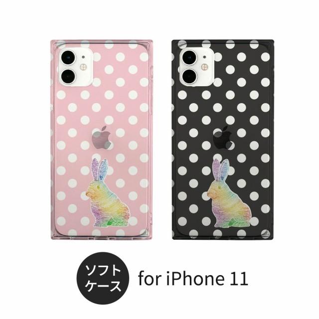 AKAN iPhone 11 ケース ソフト スクエアケース 虹...