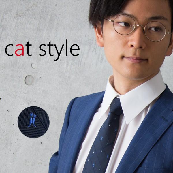 猫柄ネクタイ♪ネコ柄ネクタイ♪ビジネスに人気の...