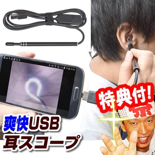 カメラで見ながら耳掃除 爽快USB耳スコープ サン...