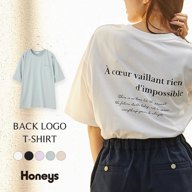 Tシャツ チュニック レディース 半袖 ロゴ カジュ...