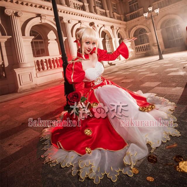 Fate/Grand Order 風 ネロ風 赤礼装 コスプレ衣装...