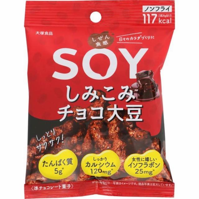 しぜん食感SOY しみこみチョコ大豆 24g【...
