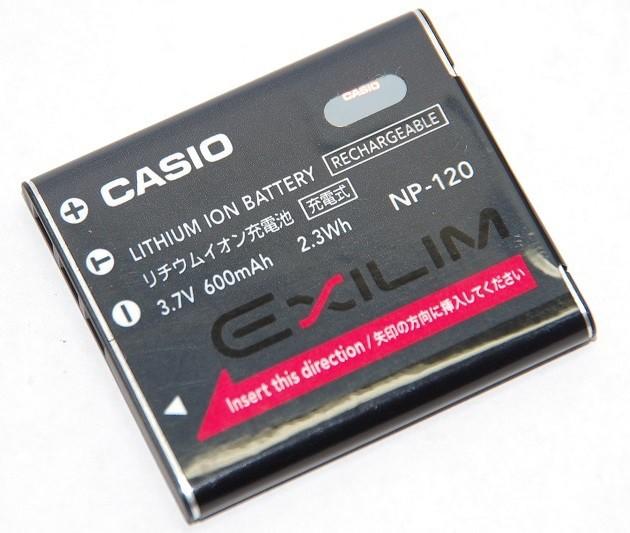 カシオ リチウムイオン充電池 NP-120 純正   ...
