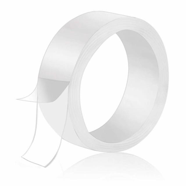 水洗い可能透明両面テープ 幅3cmX長さ1m 粘着 繰...