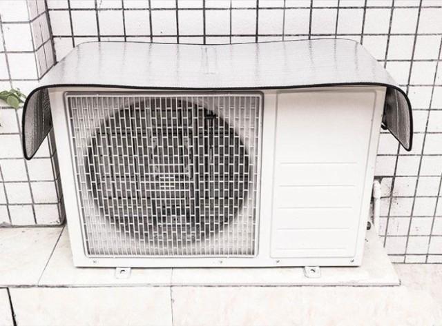 エアコン 室外機 日よけカバー 遮熱シート 直射日...