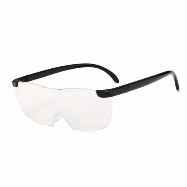 メガネ型ルーペ 1.6倍 拡大鏡 ハンズフリー レン...