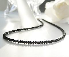 k18WG 20ctブラックダイヤ ネックレス