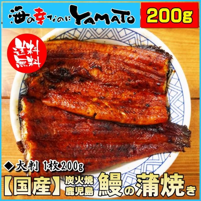炭火焼 特大 鰻の蒲焼 長焼き 1枚200g 鹿児島産 ...