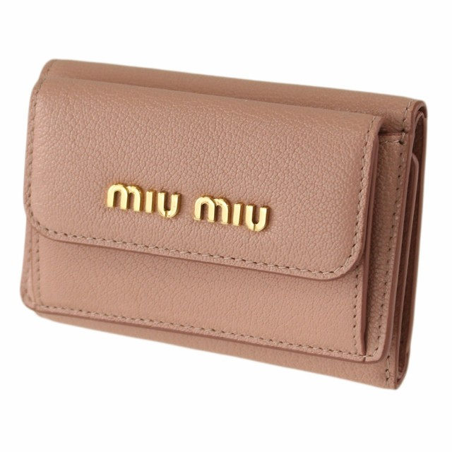 ミュウミュウ  折りたたみ財布 MIU MIU 5MH021 2E...