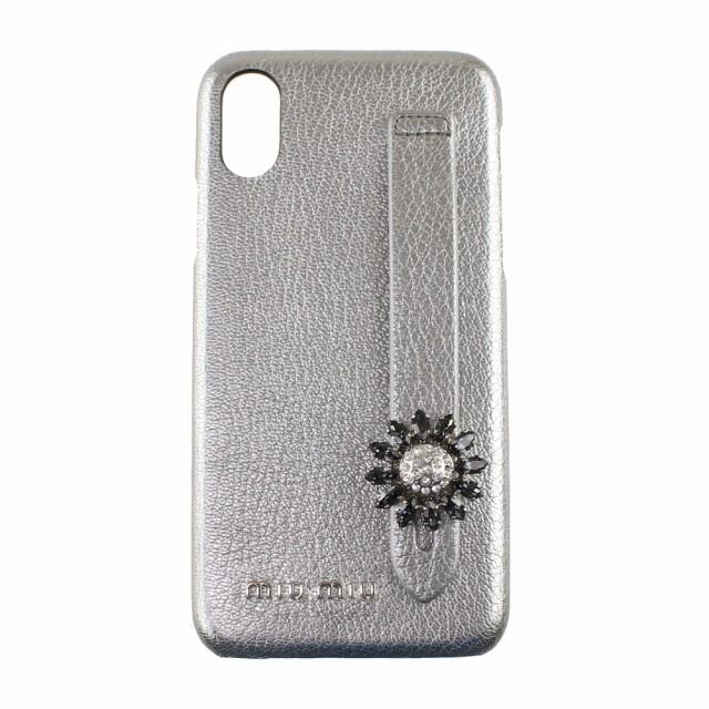 ミュウミュウ iPhoneケース レディース     iPhoneX iPhoneXS  ハードケース   MIU MIU 5ZH058 2B4E F0135 シルバー系           スマホ
