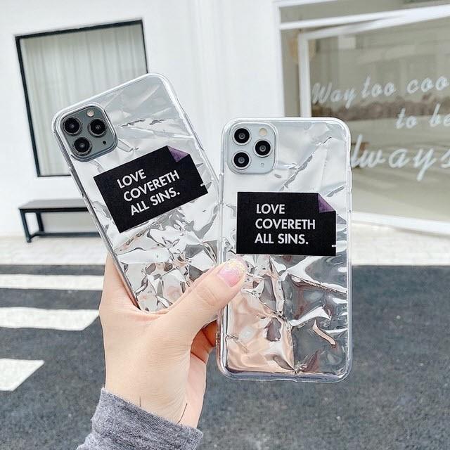 iphone11 ケース 韓国 TPU ホログラムアルミクリ...