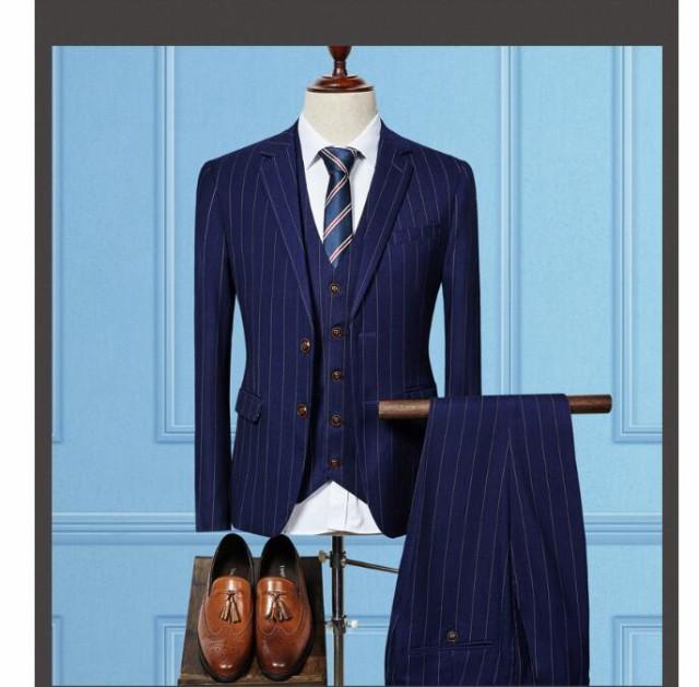 メンズスーツセット/ビジネスドレス/セットアップ...