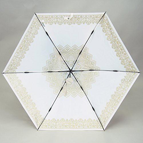 プレミアム ホワイト 折りたたみ傘 手開き 遮光 ...