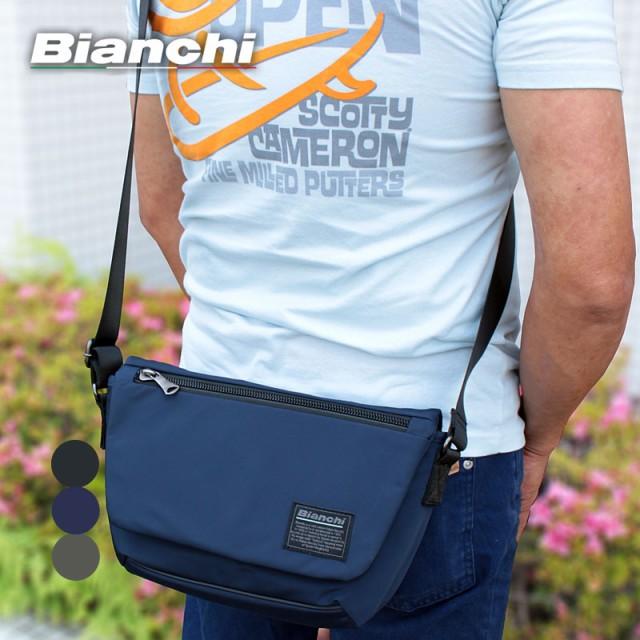 ビアンキ Bianchi フラップ付き ショルダーバッグ...