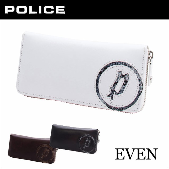 ポリス POLICE EVEN イーブン ラウンドファスナー...