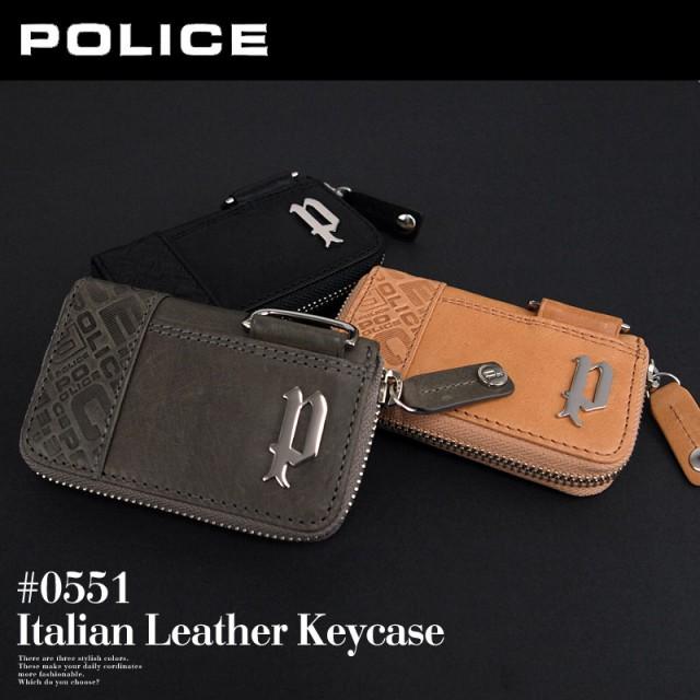 ポリス POLICE ラウンドファスナー 5連キーケース...