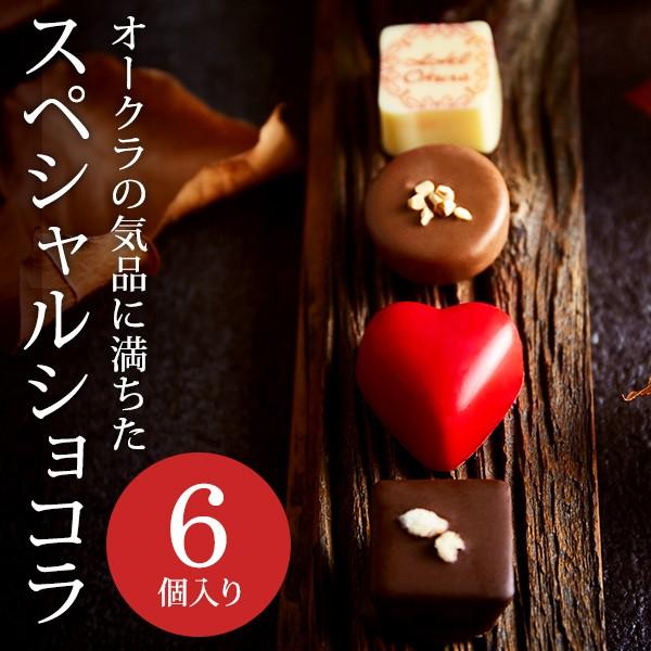 バレンタイン チョコレート ギフト ホテルオークラ スペシャルショコラ(6個) / C-20 【KC】(のし・包装・メッセージカード利用不可)
