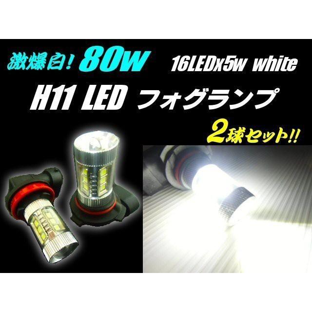12v 24v 兼用 H11 LED フォグランプ 白色 6000k ...