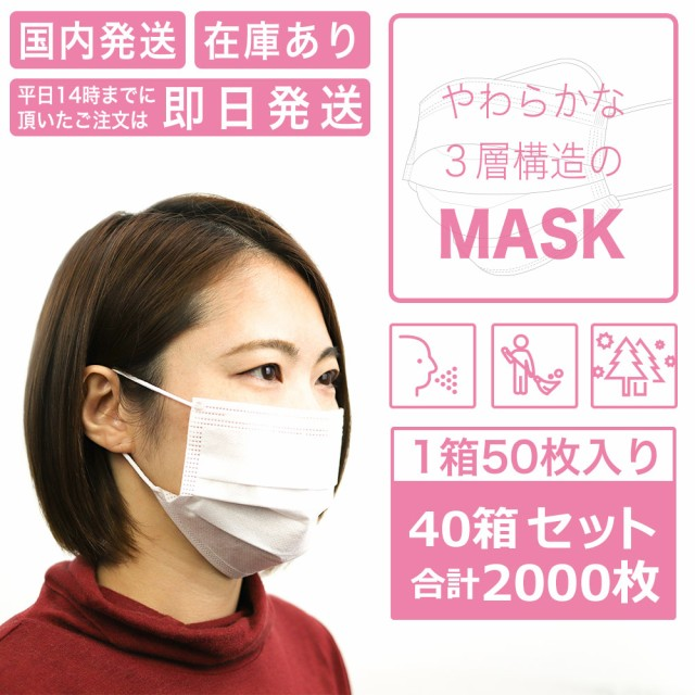 マスク 40箱 2000枚 在庫限り 事業者向け 国内発...
