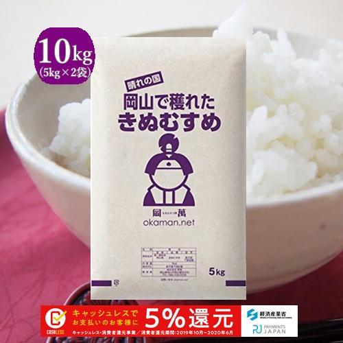 令和元年 新米 岡山産 きぬむすめ  10kg(5kg×2...