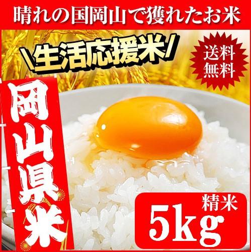 晴れの国岡山で穫れたお米 5kg 30年産入り 送料無...