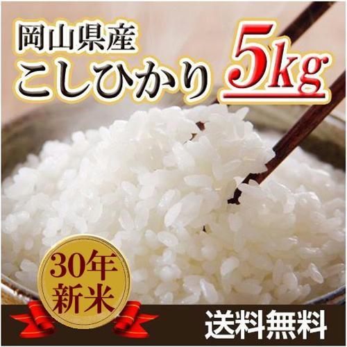 米 お米 5kg こしひかり 30年岡山県産 送料無料 ...