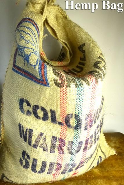 コロンビア産コーヒー豆 麻袋 ヘンプバッグ / 収...