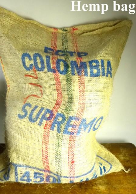 ブラジル産コーヒー豆 麻袋 ヘンプバッグ / 収納...
