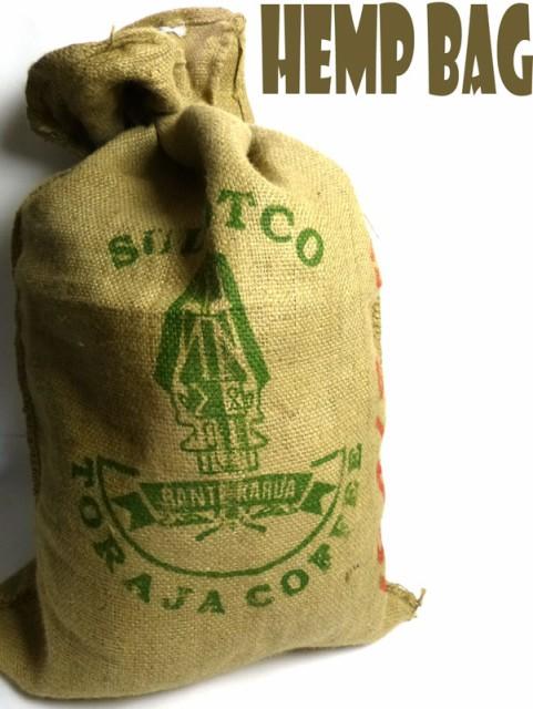 インドネシア産コーヒー豆 麻袋 ヘンプバッグ / ...