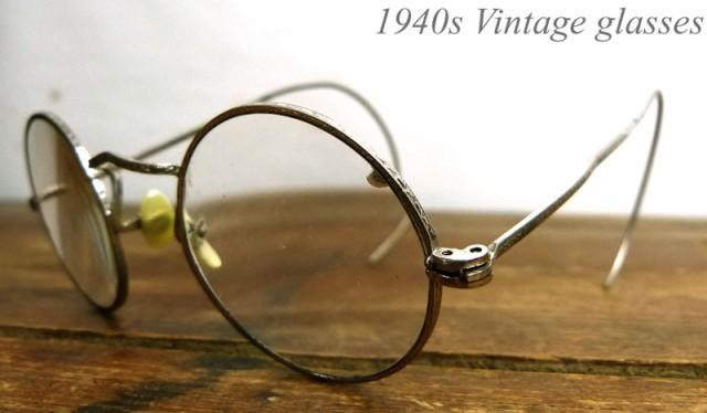 1940s USA直輸入 巻きつるテンプルメ丸メガネ / ...
