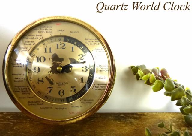Lord King クオーツ Quartz World Clock 掛け時計...