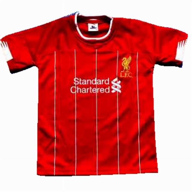 子供用 K010 20 リバプール 赤白線 ゲームシャツ ...