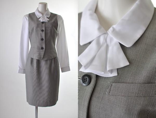 家庭で洗える日本製 5号〜25号  事務服 制服 半袖...