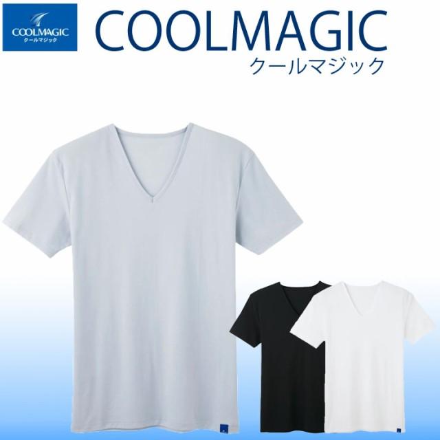 グンゼ クールマジック2415メンズ vネックtシャツ...