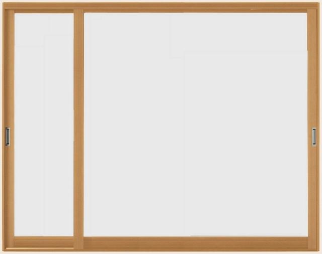 インプラスウッド 引き違い窓 変則2枚建て 和紙調...