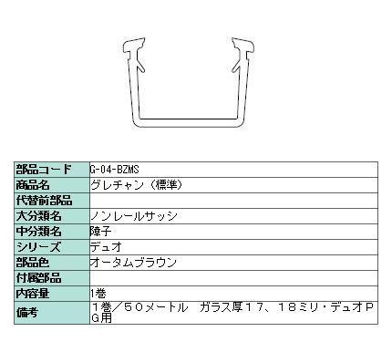 グレチャン(標準) デュオPG ガラス厚17・18mm用 5...