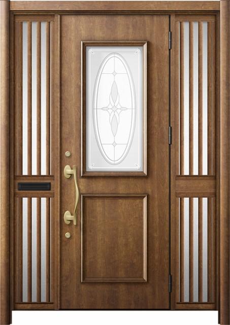 玄関ドア リシェント3 断熱 K2 C15型 両袖飾り中...
