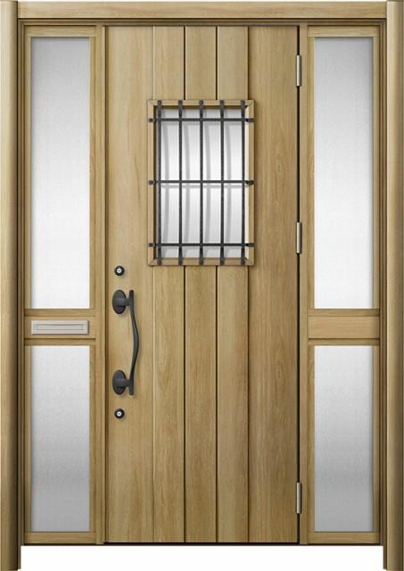 玄関ドア リシェント3 断熱 K2 D44型 両袖中桟付...