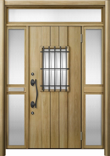 玄関ドア リシェント3 断熱 K2 D44型 両袖ランマ...